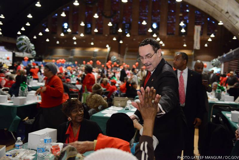 Mayor at the Senior Holiday Celebration