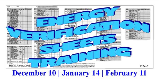 Energy Verification Sheet - Training