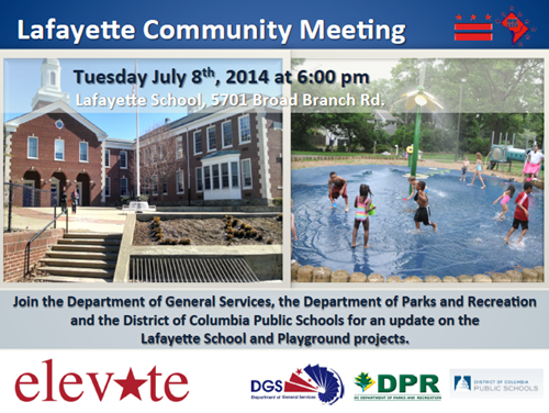 Lafayette School and Playground Projects Update Community Meeting July 8, 2014 (Accessible version available, below)