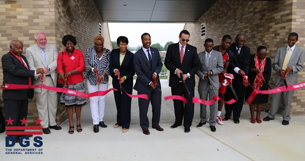 Dunbar High School Stadium and Field Ribbon Cutting on August 22, 2014