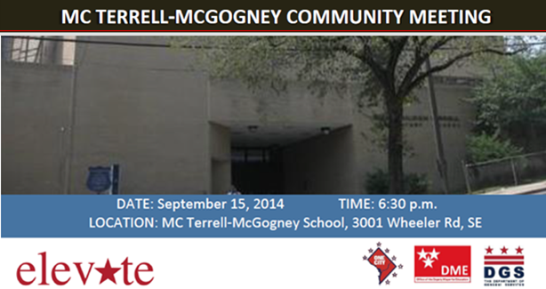 MC Terrell-McGogney School Re-Use Community Meeting Slider - September 15, 2014