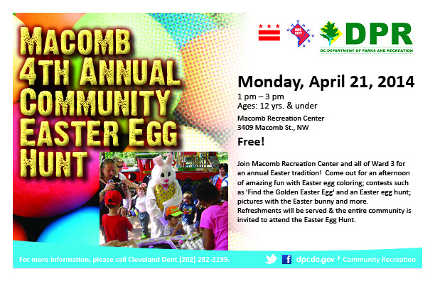 Macomb 4th Annual Community Easter Egg Hunt Information
