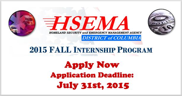 HSEMA Fall Internship Banner