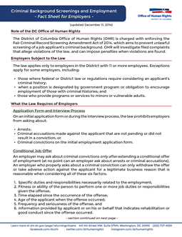 Employer Fact Sheet