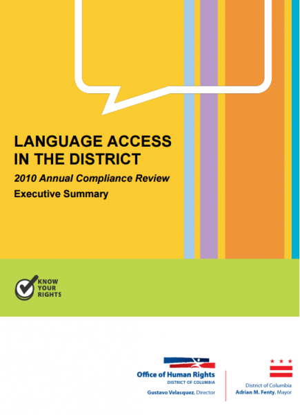 Language Access Compliance Review FY10