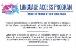 Language Access Program Banner