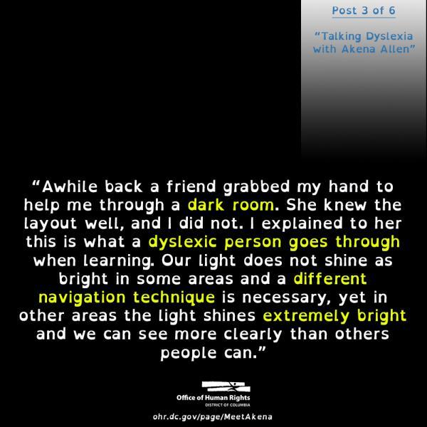 Third Post in Talking Dyslexia with Akena Allen