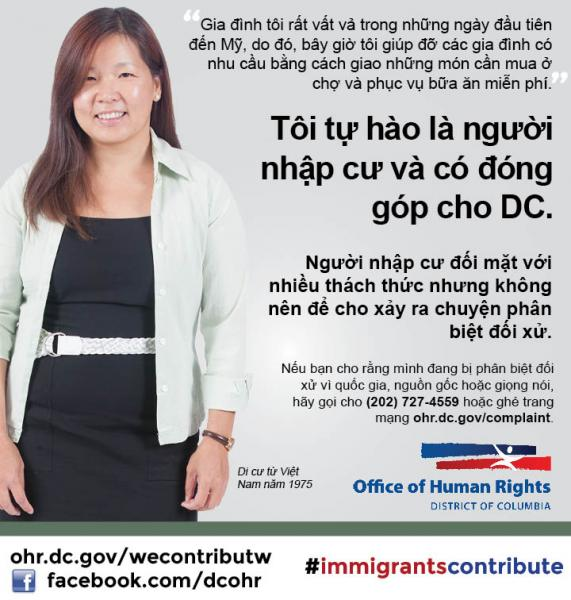 Immigrants Contribute Campaign: Vietnamese