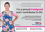 Immigrants Contribute Campaign: Ad Featuring Ana