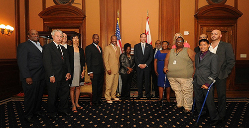 Commissioners AFter Swearing-In Ceremony