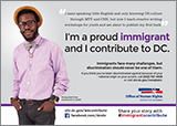 Immigrants Contribute Campaign: Ad Featuring Pages