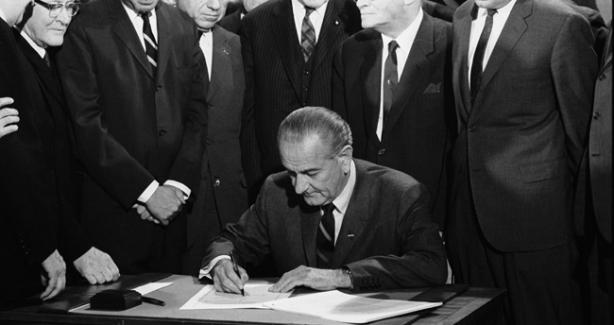 LBJ Signs the Fair Housing Act of 1968