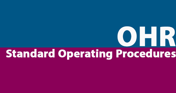OHR Stand Operating Procedures